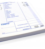 Ricevute fiscali numerate a due fogli 11x22